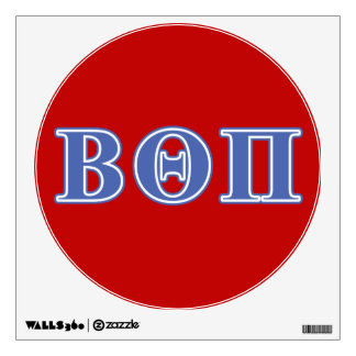 Beta Theta Pi Blue Letters Wall Decal