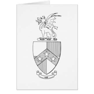 Beta Theta Pi Coat of Arms Card