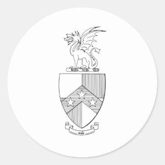 Beta Theta Pi Coat of Arms Classic Round Sticker