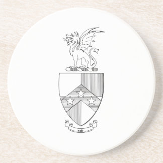Beta Theta Pi Coat of Arms Drink Coaster