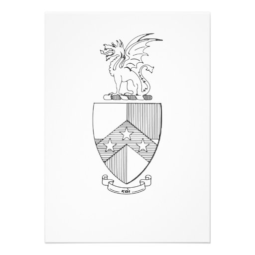 Beta Theta Pi Coat of Arms Custom Invitations