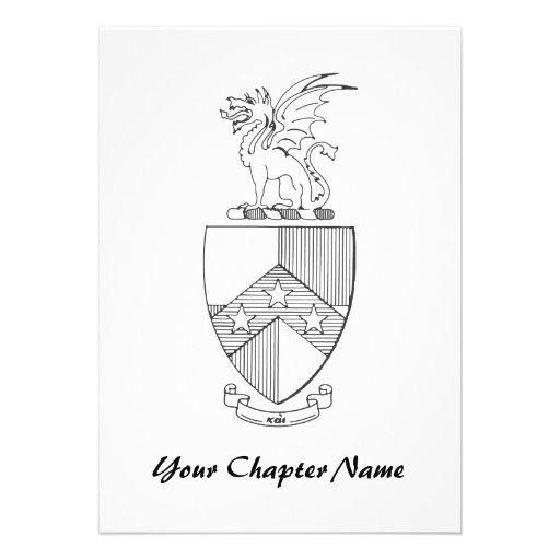 Beta Theta Pi Coat of Arms Invitations
