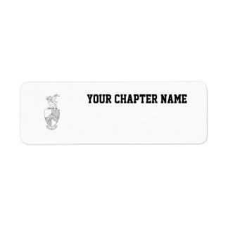 Beta Theta Pi Coat of Arms Label