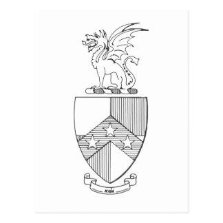 Beta Theta Pi Coat of Arms Postcard