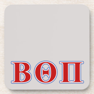 Beta Theta Pi Red and Blue Letters Beverage Coaster