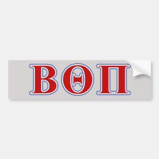 Beta Theta Pi Red and Blue Letters Bumper Sticker
