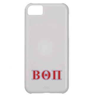 Beta Theta Pi Red and Blue Letters Case For iPhone 5C