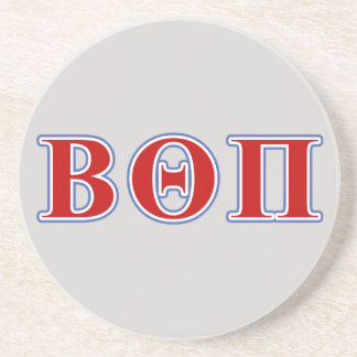 Beta Theta Pi Red and Blue Letters Coaster