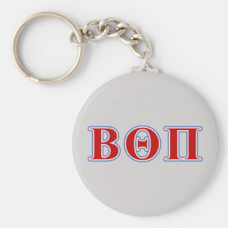 Beta Theta Pi Red and Blue Letters Keychain