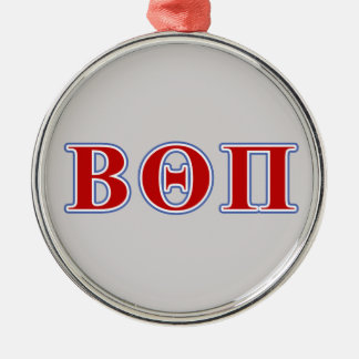 Beta Theta Pi Red and Blue Letters Metal Ornament