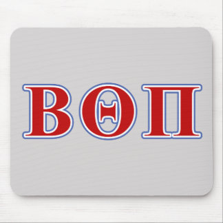 Beta Theta Pi Red and Blue Letters Mouse Pad