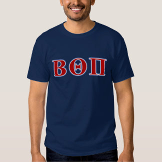 Beta Theta Pi Red and Blue Letters T-shirt