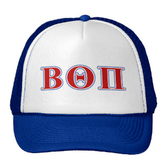 Beta Theta Pi Red and Blue Letters Trucker Hat