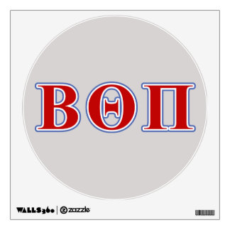 Beta Theta Pi Red and Blue Letters Wall Sticker