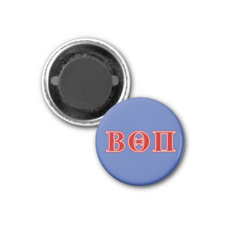 Beta Theta Pi Red Letters 1 Inch Round Magnet