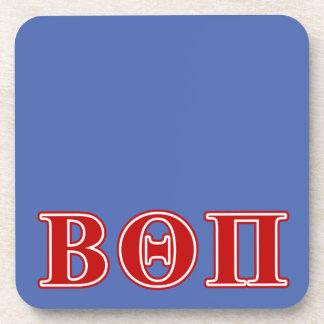 Beta Theta Pi Red Letters Beverage Coaster