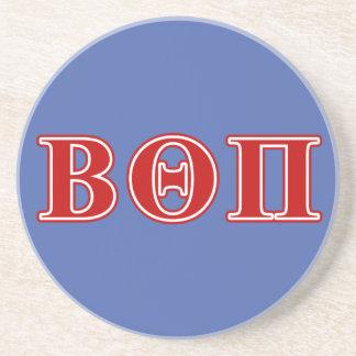 Beta Theta Pi Red Letters Coaster