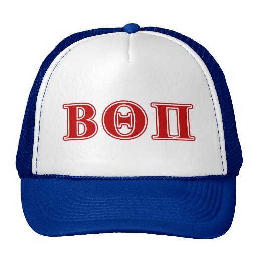 Beta Theta Pi Red Letters Hats