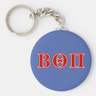Beta Theta Pi Red Letters Keychain