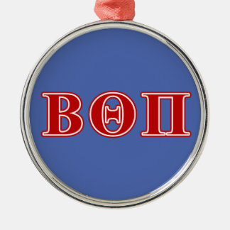 Beta Theta Pi Red Letters Metal Ornament