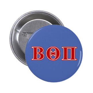 Beta Theta Pi Red Letters Pinback Button