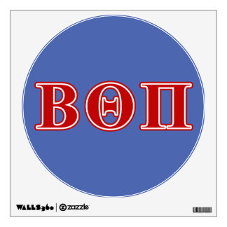 Beta Theta Pi Red Letters Wall Sticker