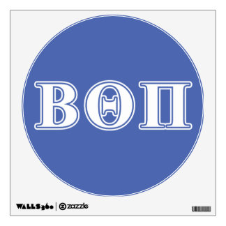 Beta Theta Pi White and Blue Letters Wall Sticker