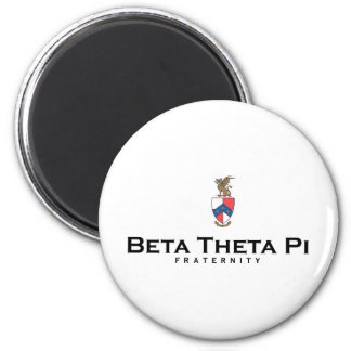 Beta Theta Pi with Crest - Color 2 Inch Round Magnet