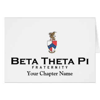 Beta Theta Pi with Crest - Color Card