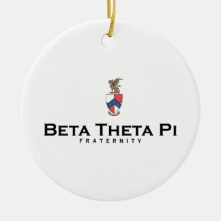 Beta Theta Pi with Crest - Color Ceramic Ornament