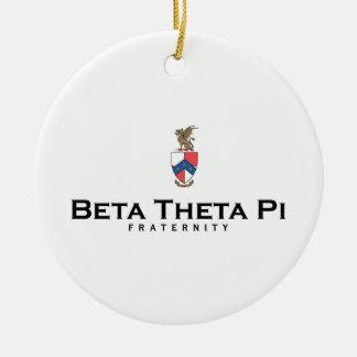 Beta Theta Pi with Crest - Color Ceramic Ornament