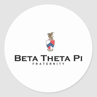 Beta Theta Pi with Crest - Color Classic Round Sticker