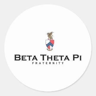 Beta Theta Pi with Crest - Color Classic Round Sticker