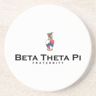 Beta Theta Pi with Crest - Color Drink Coaster