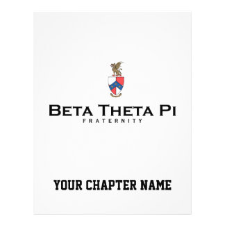 Beta Theta Pi with Crest - Color Flyer