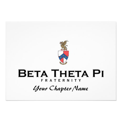 Beta Theta Pi with Crest - Color Announcement