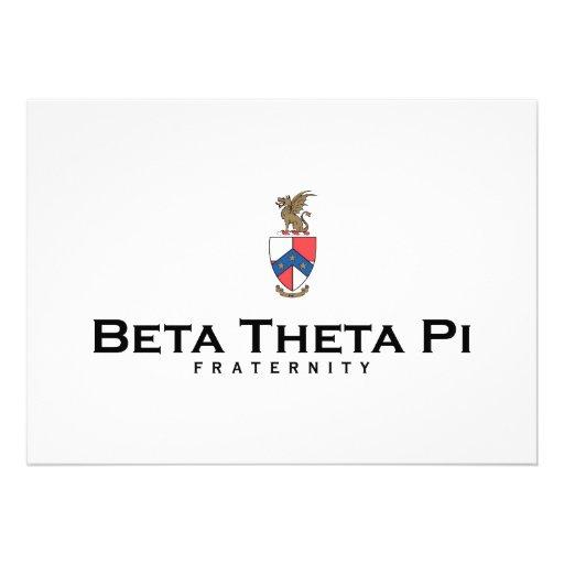 Beta Theta Pi with Crest - Color Invite