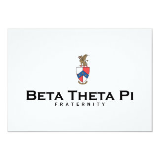 Beta Theta Pi with Crest - Color 5x7 Paper Invitation Card