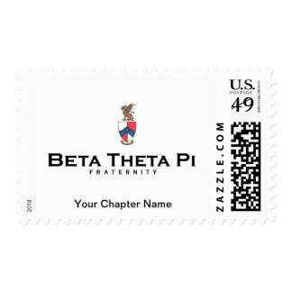 Beta Theta Pi with Crest - Color Postage