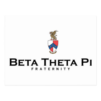 Beta Theta Pi with Crest - Color Postcard