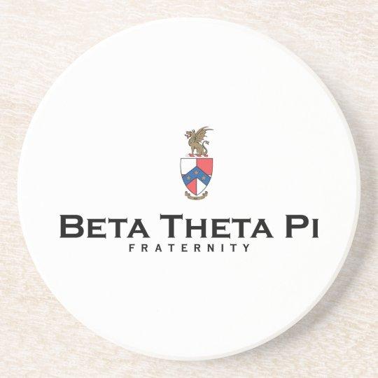 Beta Theta Pi with Crest - Color Sandstone Coaster