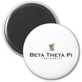 Beta Theta Pi with Dragon - Color 2 Inch Round Magnet