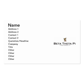 Beta Theta Pi with Dragon - Color Business Card
