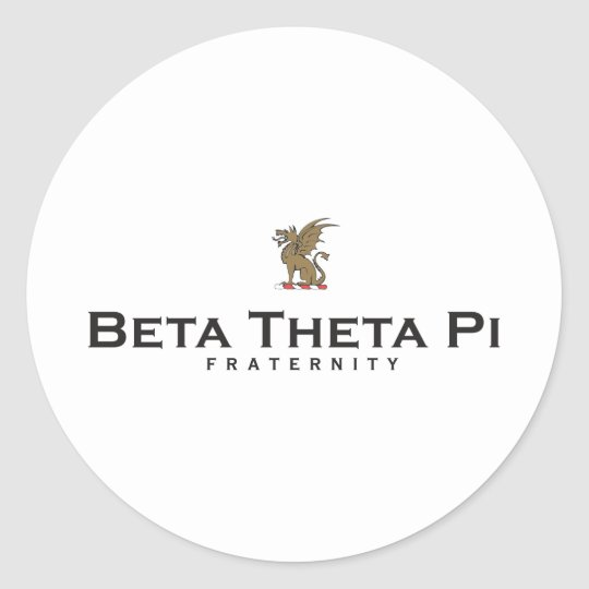 Beta Theta Pi with Dragon - Color Classic Round Sticker