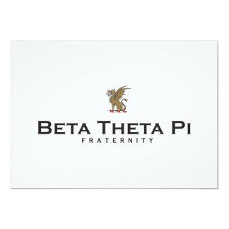 Beta Theta Pi with Dragon - Color 5x7 Paper Invitation Card