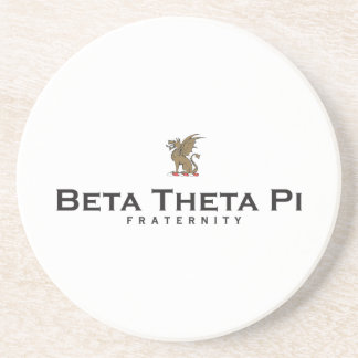 Beta Theta Pi with Dragon - Color Sandstone Coaster