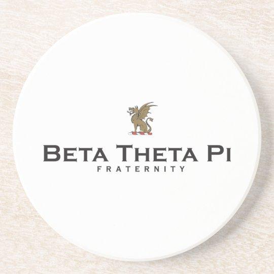 Beta Theta Pi with Dragon - Color Sandstone Coaster