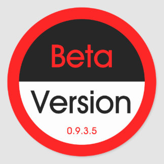 Beta Version Classic Round Sticker