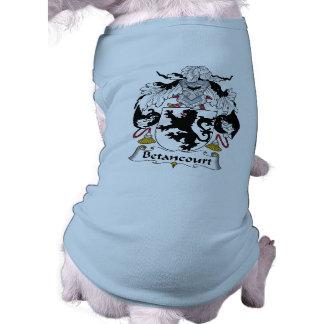 Betancourt Family Crest Doggie Tee Shirt