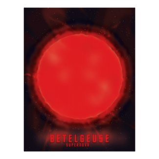 betelgeuse supernova Space Art Poster